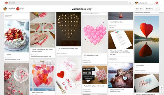 e.m.papers Valentine's Day Pinterest Board