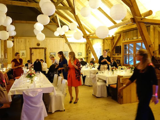 Rustic Bavarian wedding reception