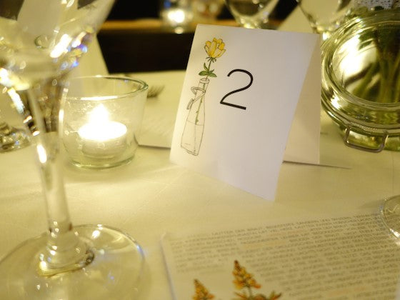 Yellow rose wedding table number printable from e.m.papers