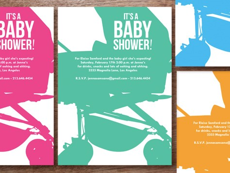 modern printable baby shower invitation