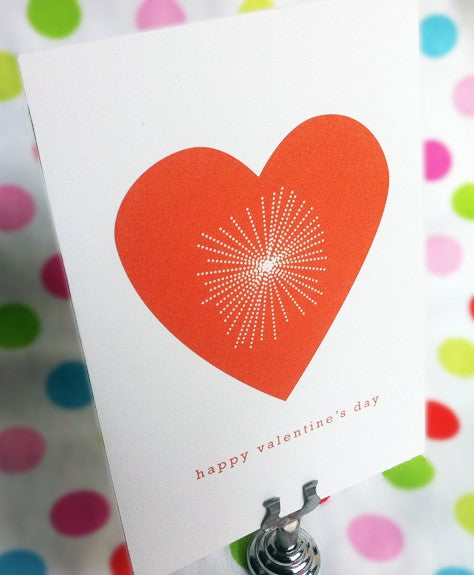 Valentine Card Ideas - Bright Heart