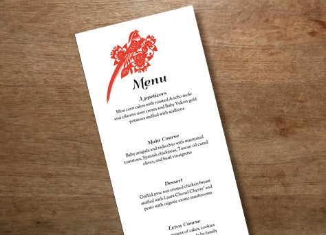 Printable Wedding Menu design from e.m.papers