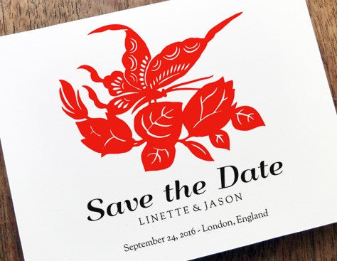 Printable Save the Date design from e.m.papers