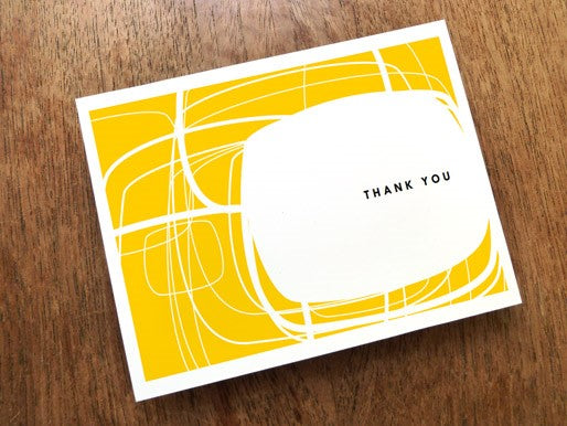 yellow-orange printable thank you card