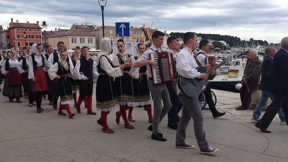 Folk festival in Rovinj, Croatia