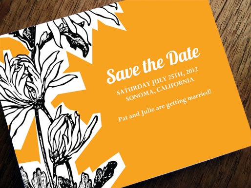 Orange save the date template