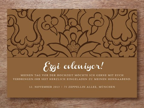 Printable Henna Night Invitation