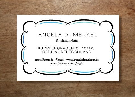 Printable business card design from e.m.papers