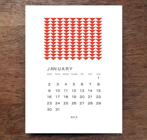 2013 Printable Calendar design from e.m.papers