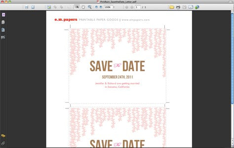 Doc.#400276: Wedding Save the Date Emails – Want That Wedding Free ...