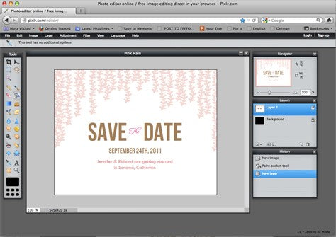 photo editing a save the date