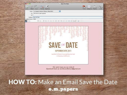 DIY Wedding Save the Date Email Howto empapers