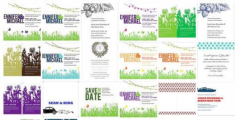 Printable Wedding Invitations in Custom Colors