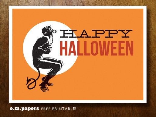 Free printable halloween poster from e.m.papers