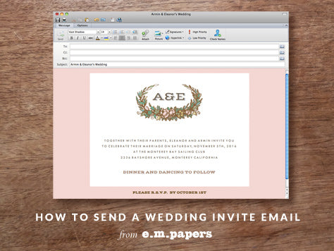 How to send an Email Save the Date