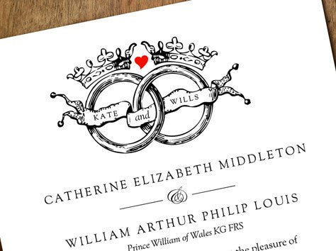 kate and wills royal wedding invitation
