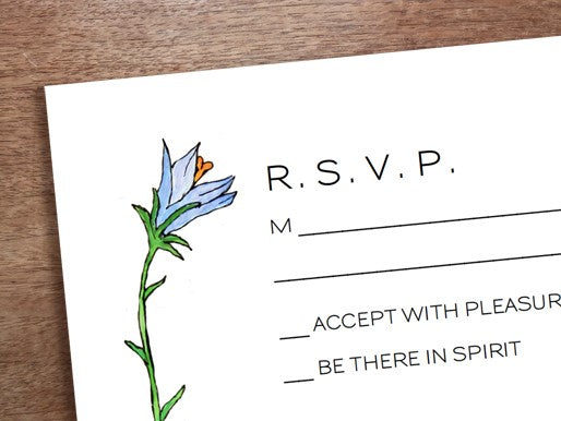 wedding rsvp template from e.m.papers and stephanie levy
