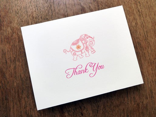 Monsoon wedding thank you card