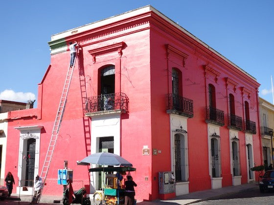 Oaxaca red building