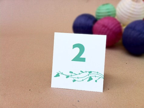Printable Table Number