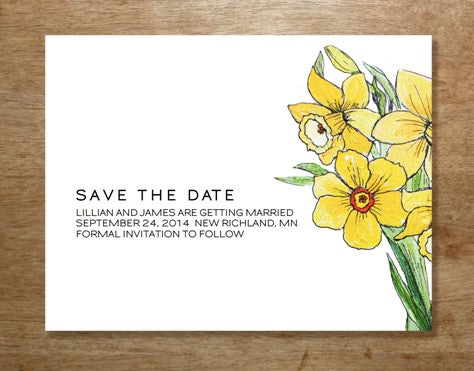 Printable Save the Date design from e.m.papers and Stephanie Levy