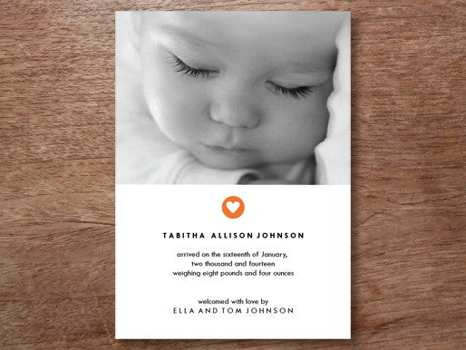 Photo Baby Announcement Template From e.m.papers