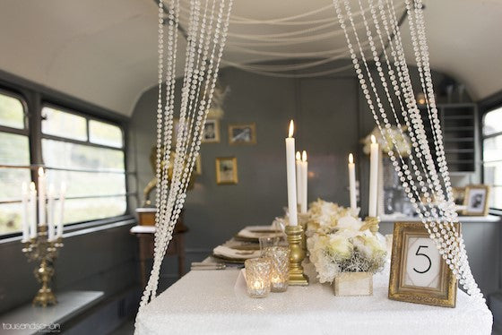 1920s Great Gatsby style wedding table