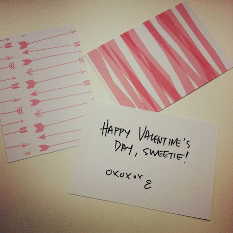 Valentines day cards using printable valentine scrapbook paper