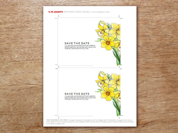 Printable Save the Date - LeMayr