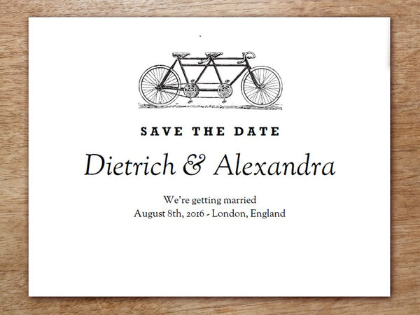 Printable Save the Date - Tandem