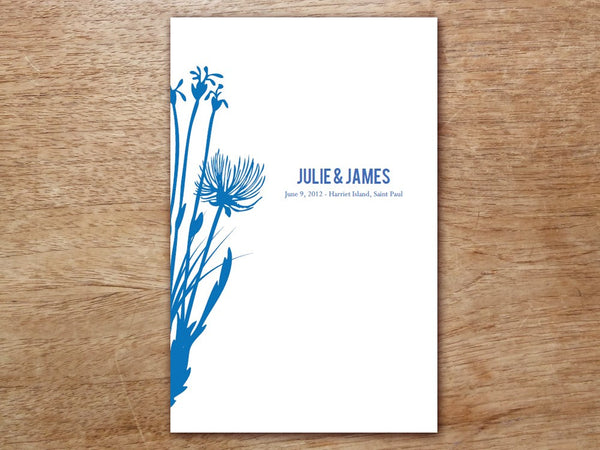 Printable Wedding Program - Bluebell
