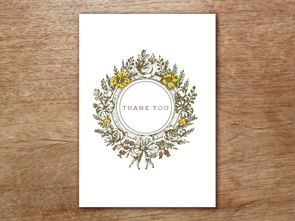 Printable Thank You Card - Monogram