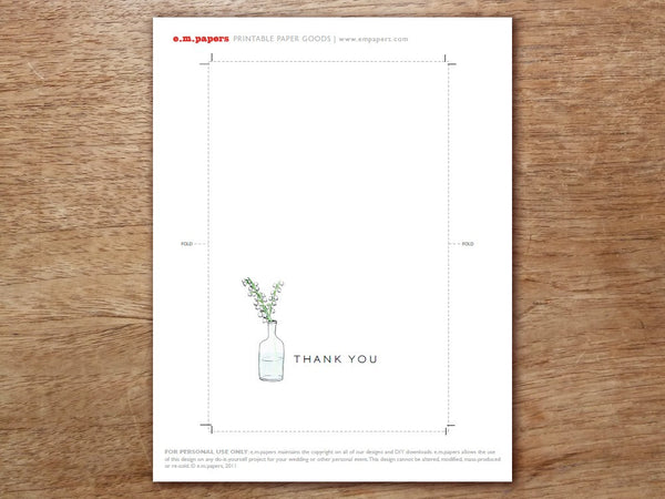 Printable Thank You Card - LeMayr