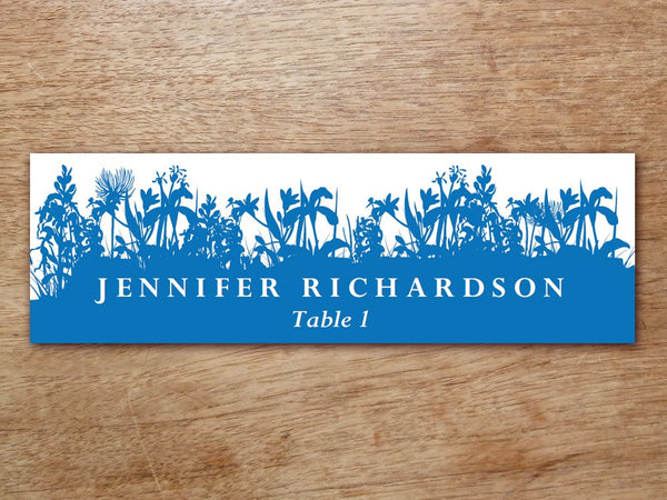 Printable Place Card - Bluebell