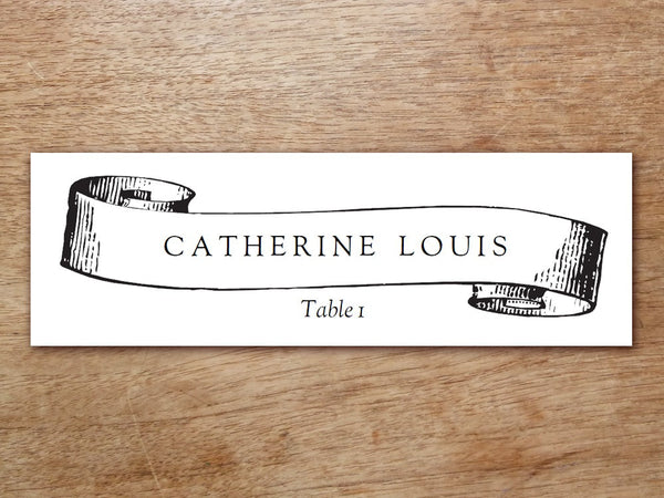 Printable Place Card - Kate and Wills