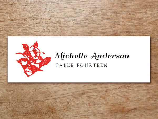 Printable Place Card - Gong Xi