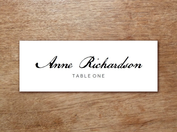 Printable Place Card - Calligraphy Monogram