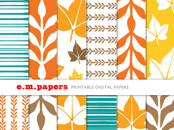 Printable Wrapping Paper - Autumn Patterns