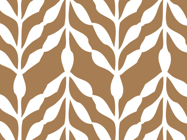 Printable Wrapping Paper - Brown and White Pattern
