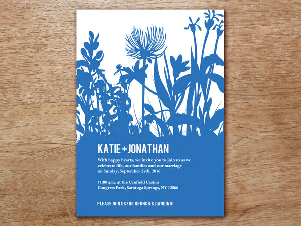 Printable Wedding Invitation - Bluebell
