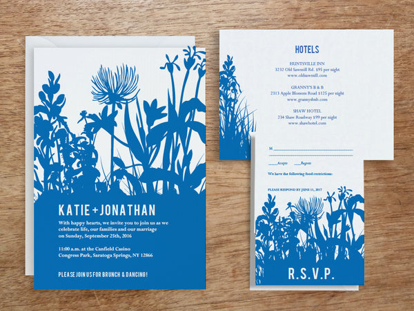 Printable Wedding Invitation Set - Bluebell