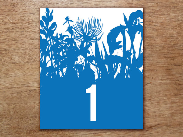 Printable Table Number - Bluebell
