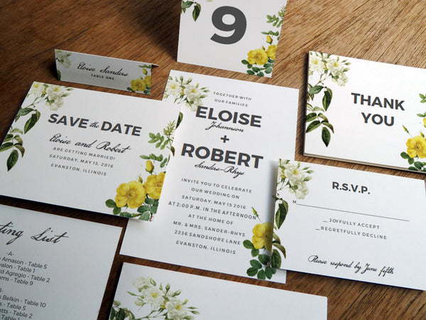 Printable Wedding Invitation Kit - Botanical