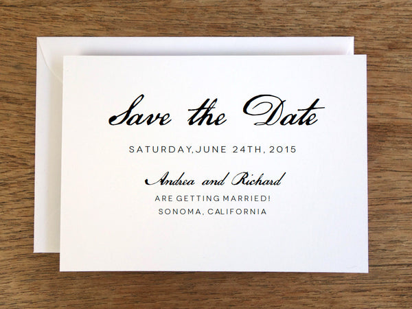 Printable Save the Date - Calligraphy Monogram