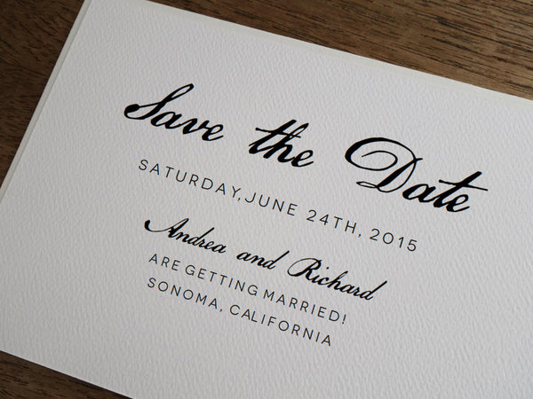 Printable Wedding Save the Date - Calligraphy Monogram