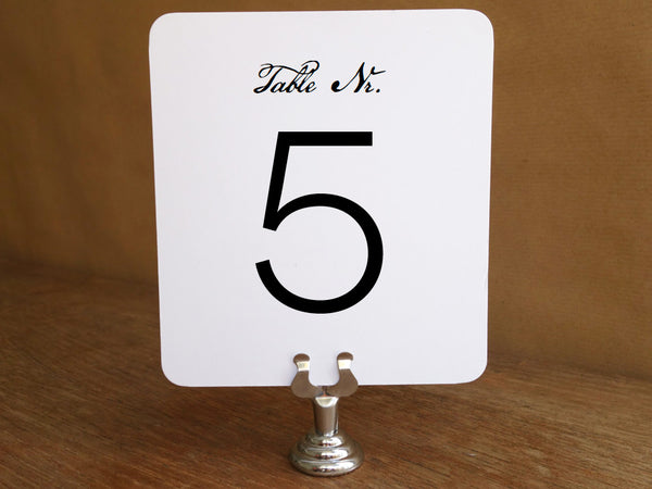 printable table number template from e.m.papers - black and white table number - wedding table number - thanksgiving table number
