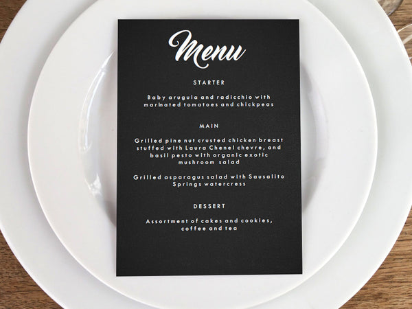 Printable Menu - Retro Chalkboard