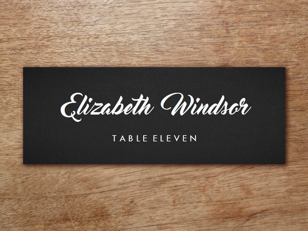 Printable Place Card - Retro Chalkboard