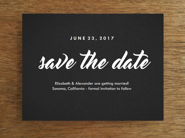Printable Save the Date - Retro Chalkboard