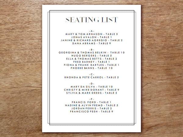 Printable Wedding Invitation Kit - Classic Black and White